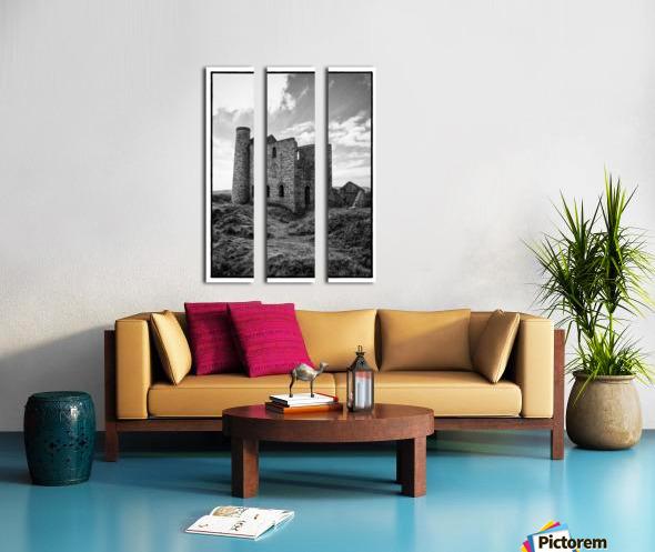 Tin Mine Cornwall Split Canvas print