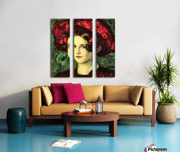 Mary with red hat by Franz von Stuck Split Canvas print