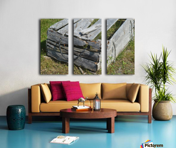 Used Wood Split Canvas print