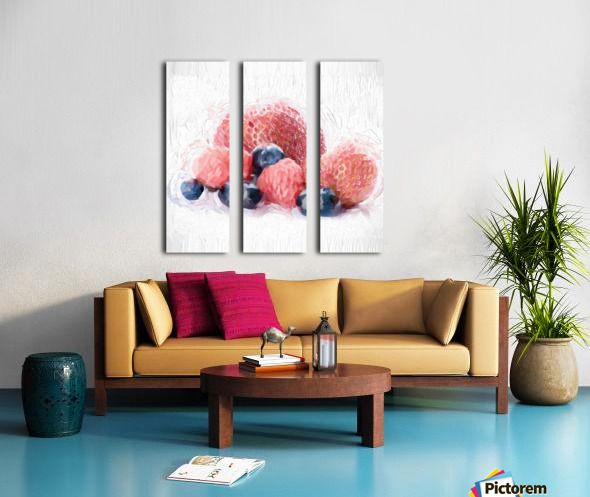 Berries Split Canvas print