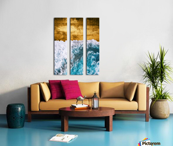Tropical XVI - Golden Beach Split Canvas print