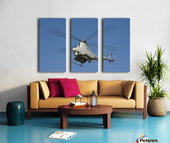 An MQ-8B Fire Scout unmanned aerial vehicle in flight. Split Canvas print