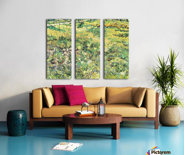 Meadow in the Garden of Saint-Paul Hospital by Van Gogh Split Canvas print