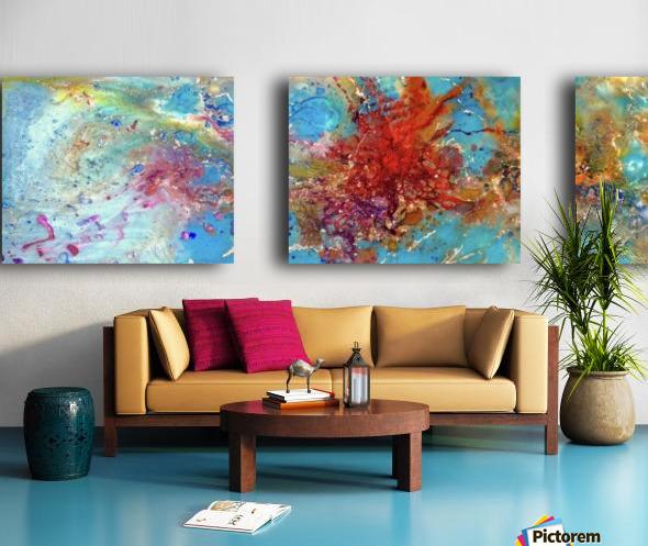 Azure Split Canvas print