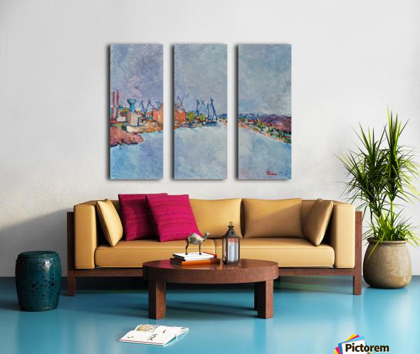 G112 SANTIER NAVAL Split Canvas print