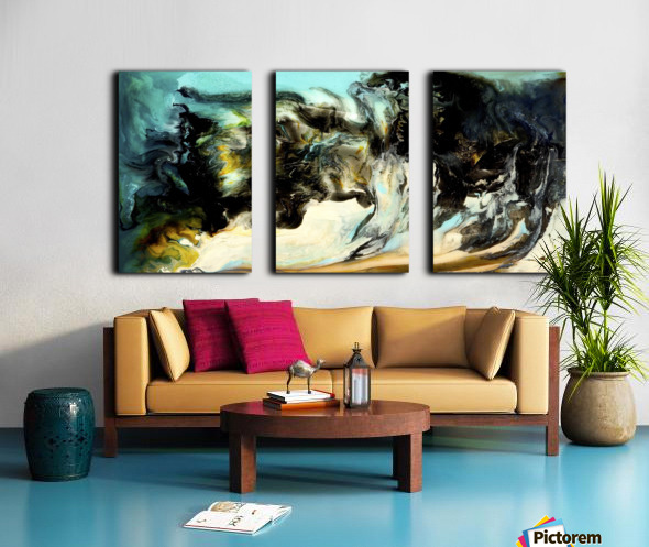 Aquamarine Split Canvas print