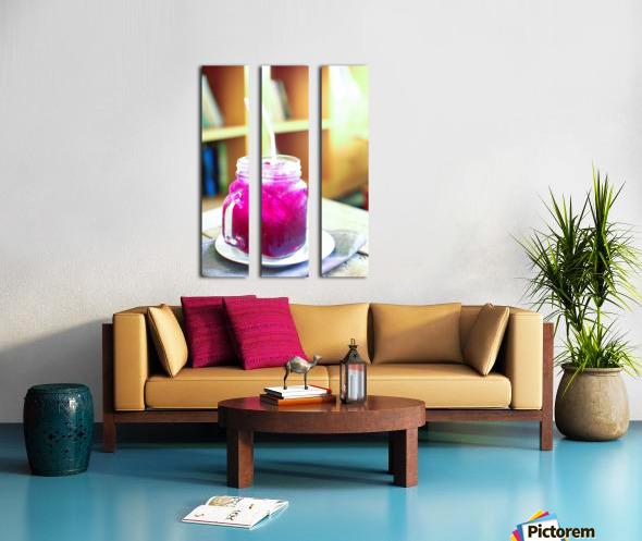 Herb juice. Split Canvas print