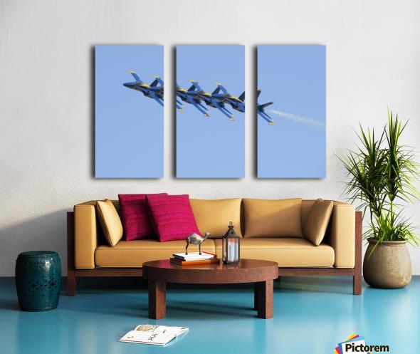 U.S. Navy flight demonstration squadron the Blue Angels. Split Canvas print