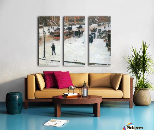 Fifth Avenue in Winter by Hassam Split Canvas print