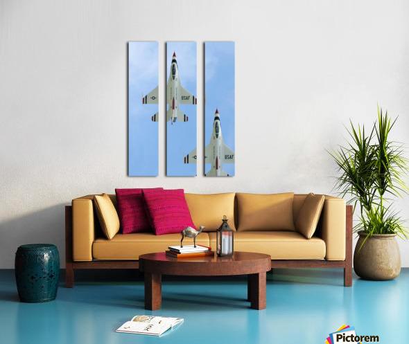 The United States Air Force Demonstration Team Thunderbirds Split Canvas print