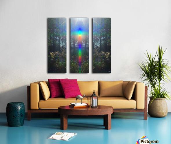 Rainbow Light Split Canvas print