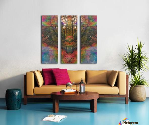 The Happy Totem Split Canvas print