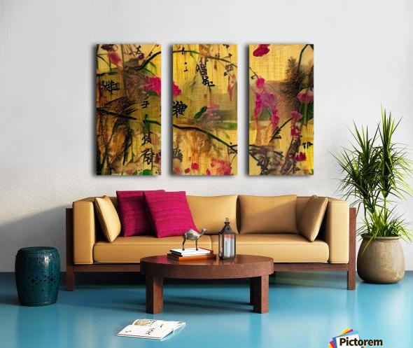 Oriental Painting. Japanese Style Split Canvas print