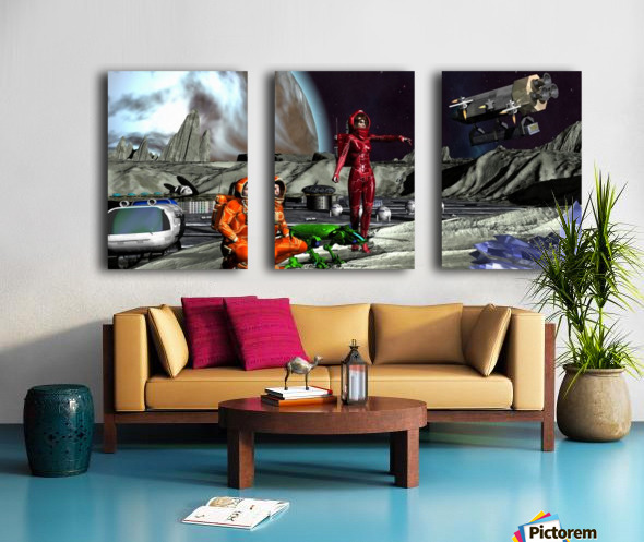 Survay Team Split Canvas print