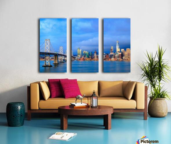 San Francisco on Blue Split Canvas print
