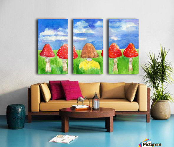 Mushroom Girl  Split Canvas print