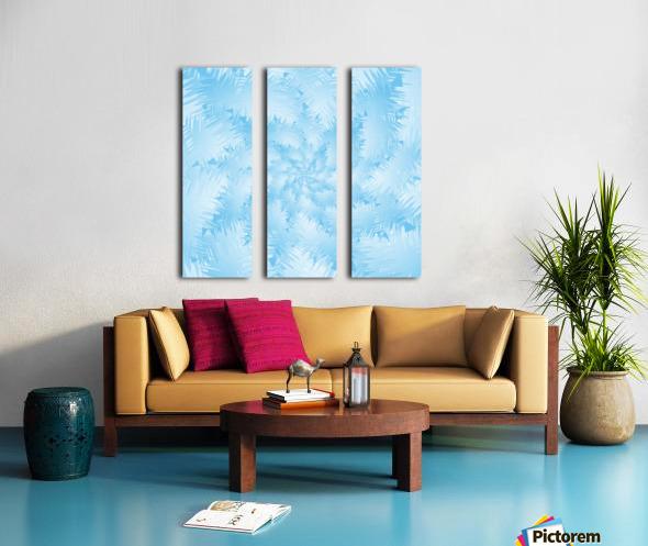 Blue Snowflake Spiral Split Canvas print