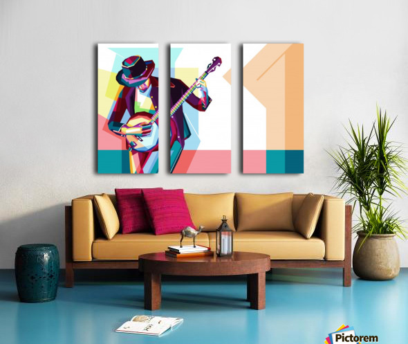 GUITAR MAN Split Canvas print