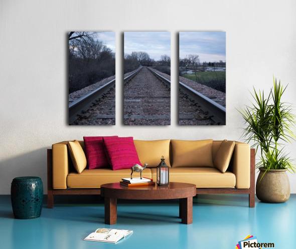 Train Tracks Split Canvas print