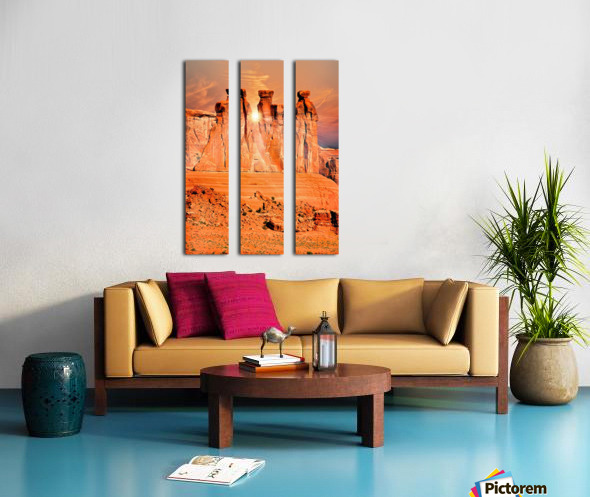 Three Gossips Split Canvas print