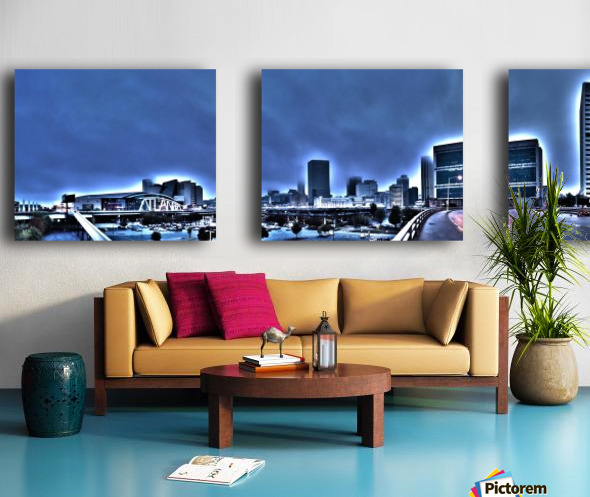 Surreal Atlanta Split Canvas print