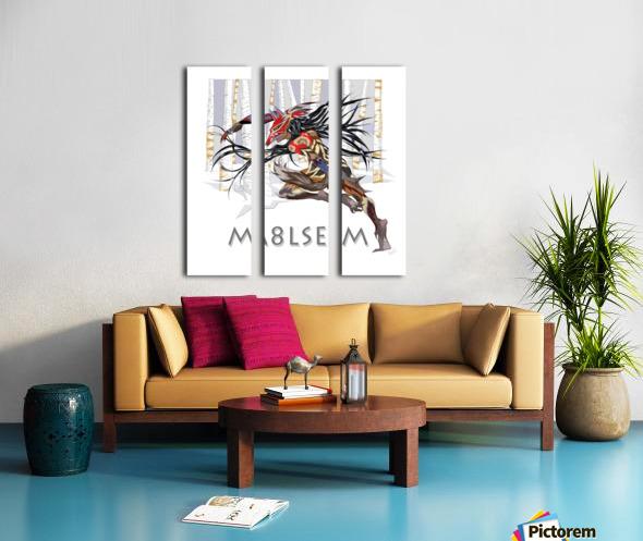 Loup_M8lsem_AnikLafreniere Split Canvas print