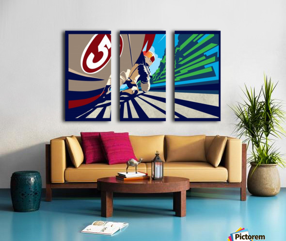 full throttle Motor Racing  Split Canvas print