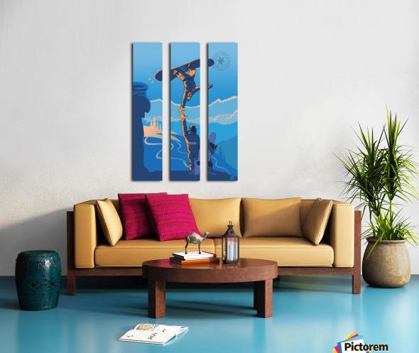 snowboard highfive Split Canvas print