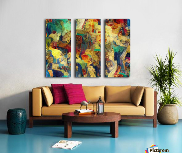 Colorful Abstract Ornament Split Canvas print