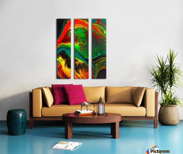 Cosmic Fusion Split Canvas print