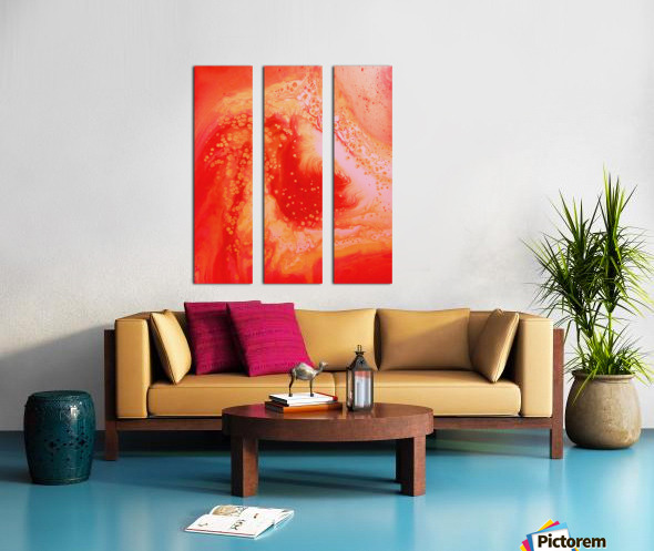 Cosmic Rose Split Canvas print