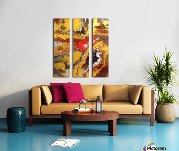 A Touch of Gold Split Canvas print