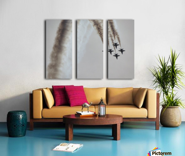 Flyovers Split Canvas print