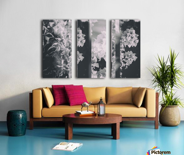 Bougainvillea Collage B&W Split Canvas print