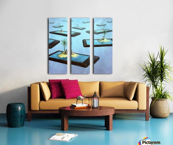 Islands Split Canvas print
