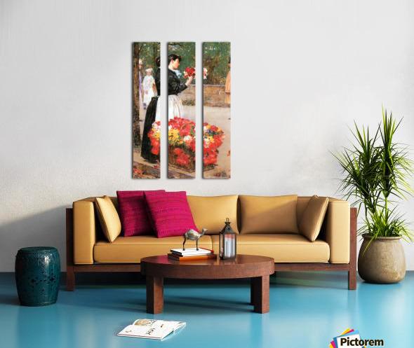 Flower girl by Hassam Split Canvas print