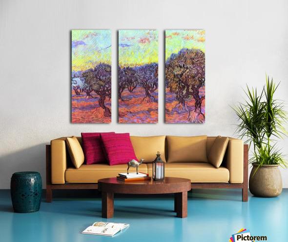 Olive Trees -2- by Van Gogh Split Canvas print