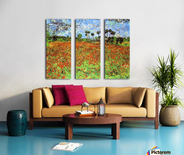 Poppy Fields by Van Gogh Split Canvas print