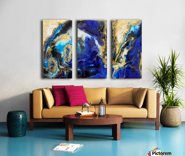Blue Map Split Canvas print