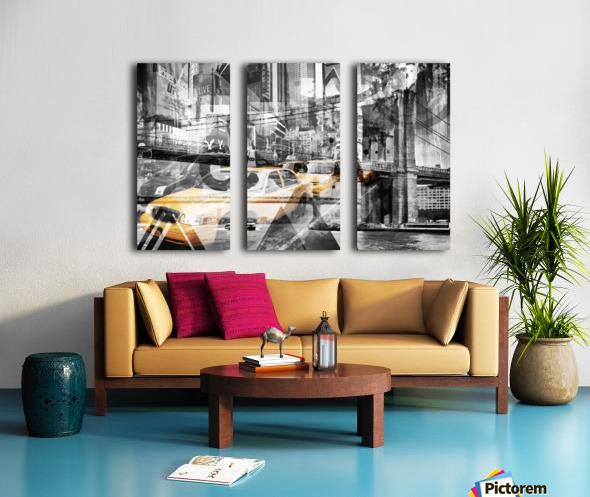 Modern Art NYC Collage Split Canvas print