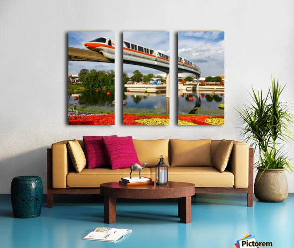 EPCOT Monorail Split Canvas print