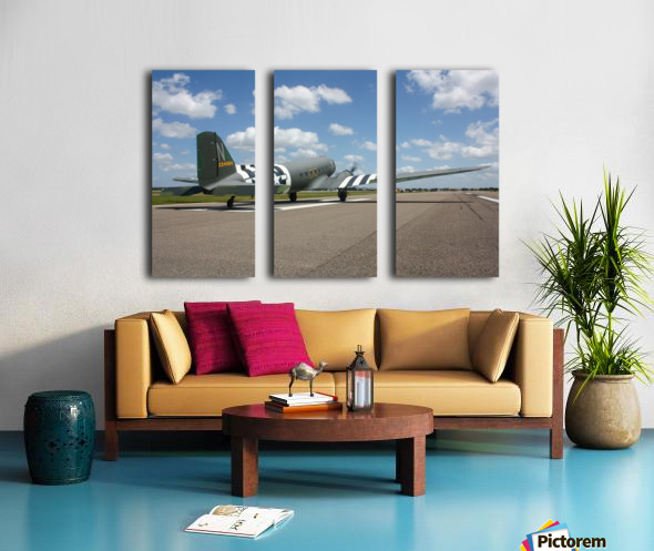 Sun N Fun C-47 Split Canvas print
