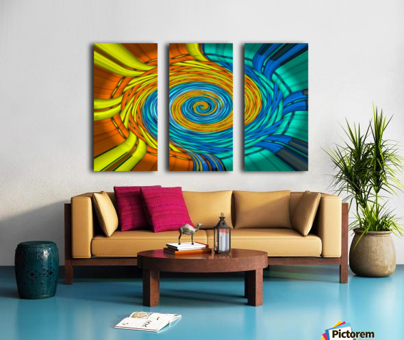 Magic Swirl Split Canvas print