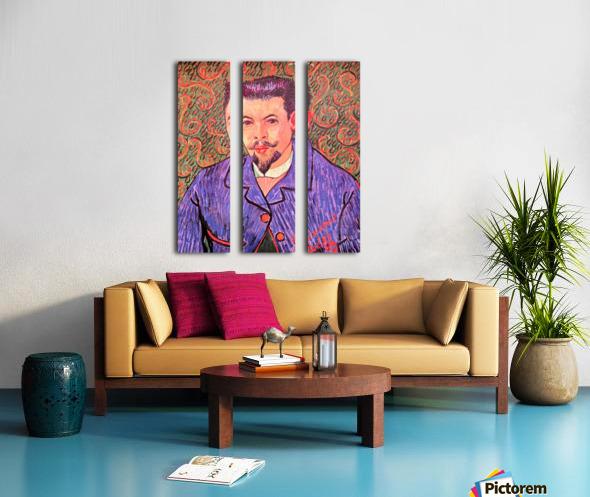 Portrait of Dr. Rey by Van Gogh Split Canvas print