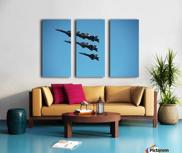 USN Blue Angels Formation Split Canvas print