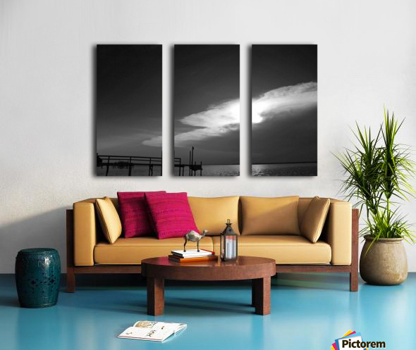 BW Stunning CLoud Sunset Split Canvas print