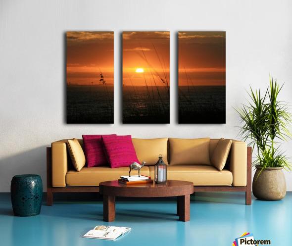 Sea Grass Sunset Split Canvas print