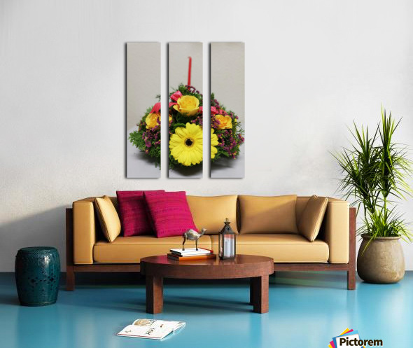 Flower —feel of Happy Merry Christmas coming Split Canvas print