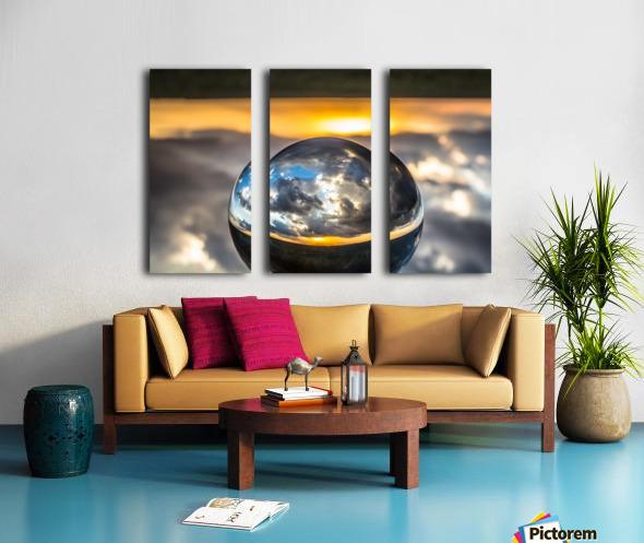 Lens Ball7 Split Canvas print