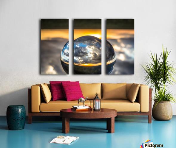 Lens Ball5 Split Canvas print